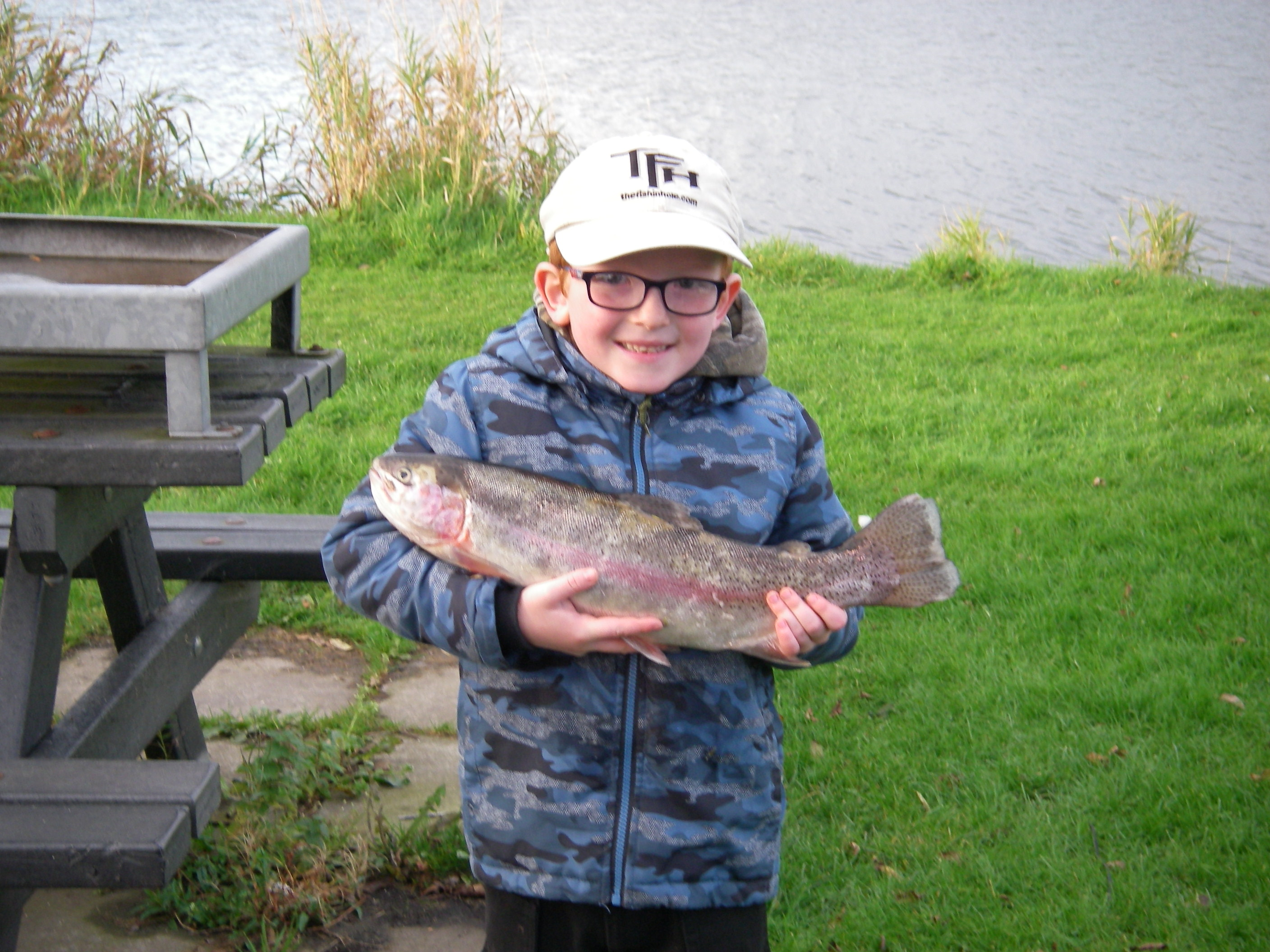 BAC Juvenile Angler with Rainbow Trout 3lbs 7ozs caught at the Corbet Lough on 22 October 2016