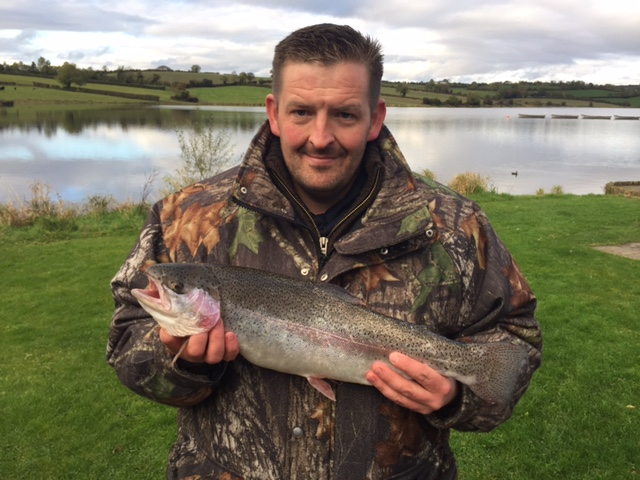 BAC Philip Carson with a Rainbow Trout 5lbs 4ozs caught at Corbet Lough on 26 October 2016