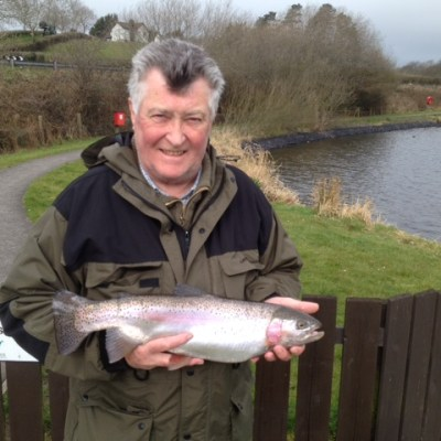 BAC Roy McKee Rainbow Trout 4lbs 5ozs caught at Corbet Lough 4 April 2015