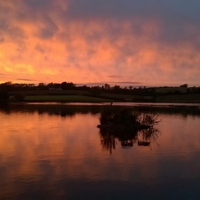 BAC  A May sunset on the Corbet Lough - Photograph courtesy of Darrell McKinley