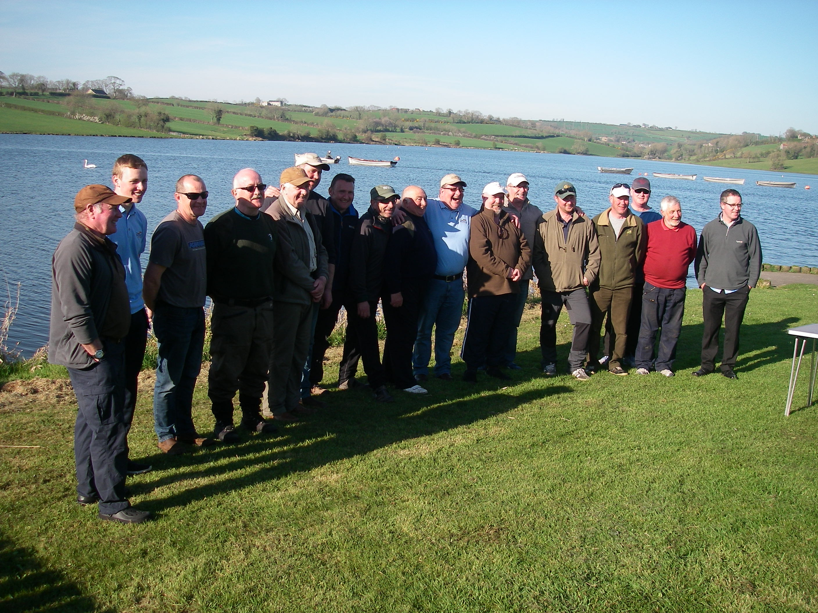 BAC Friendship Cup Corbet Lough 8 April 2017 - Armagh and Banbridge anglers pose for a photograph at Corbet Lough