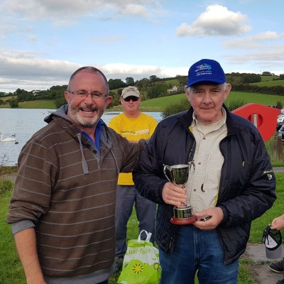 BAC Friendship Cup 7 September 2019 - Aidan Donnelly, Armagh Angling Club presents the Friendship Cup to Sam Grant, Banbridge Angling Club