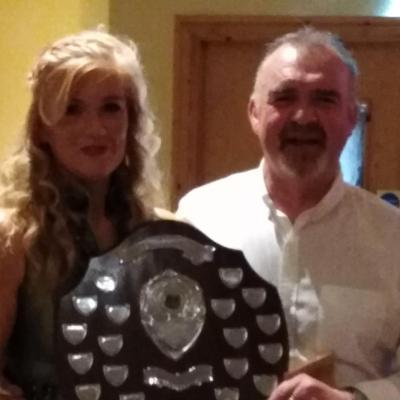 BAC - Special Guest Clare Flack presents the Angler of the Year Shield to Geoff Hylands - 31 January 2020