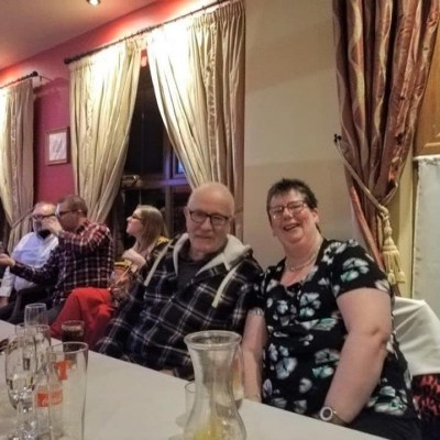 BAC - Wilson and Jennifer enjoy the Dinner Dance in the Anglers Rest on 31 January 2020