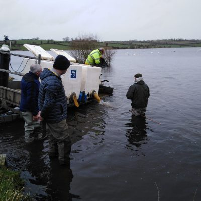 BAC - Fish Stocking at the Corbet Lough on 17 March 2020