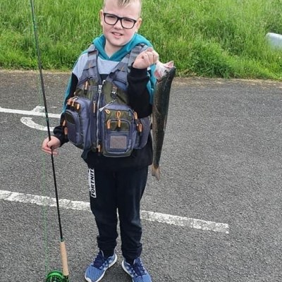 BAC - On 13 July 2020 this young angler caught his first fish on the fly at Corbet Lough