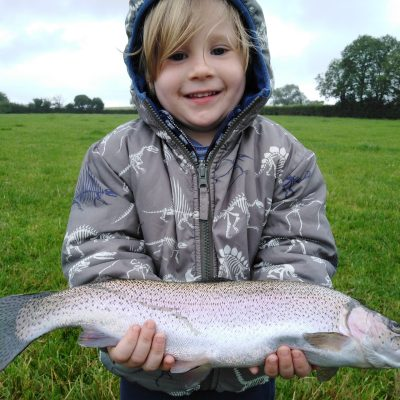 BAC - A happy juvenile with a nice fish caught at the Corbet Lough on Saturday 4 July 2020