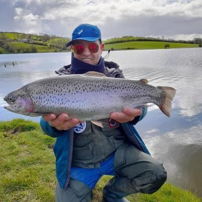 BAC - 6lbs Rainbow caught by Donal McCullaugh at the Corbet Lough on Friday 9 April 2021