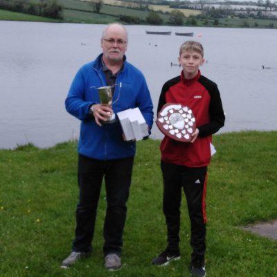 BAC - Sam Watt presents Sam Curran with the Juvenile Angler of the Year Shield 2020 at the Corbet Lough on 27 May 2021