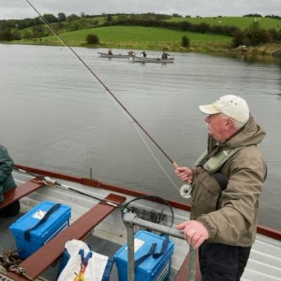 BAC - Eddie Harris, The Silver Butchers sets off for a day's fishing at Corbet Lough