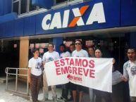 Caixa Marabá na greve