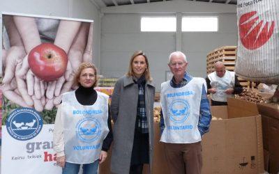 NEIKER-Tecnalia dona 20.000 kilos de patatas al Banco de Alimentos de Araba