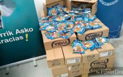El Banco de alimentos de Araba repartirá golosinas a los niños/as gracias a AFOSGASCA y al Colegio de Abogados de  Álava