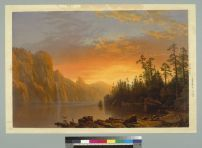 Bierstadt, Albert & Harring, William. Sunset, California scenery (1868). BANC PIC 1963.002:0401--C. Courtesy of The Bancroft Library, University of California, Berkeley ONLINE