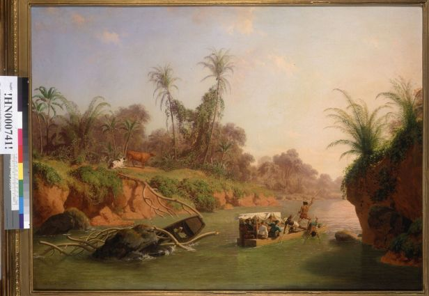 Nahl, Charles Christian. Incident on the Chagres River, Panama (1867). BANC PIC 1963.002:1361--FR. Courtesy of The Bancroft Library, University of California, Berkeley Online