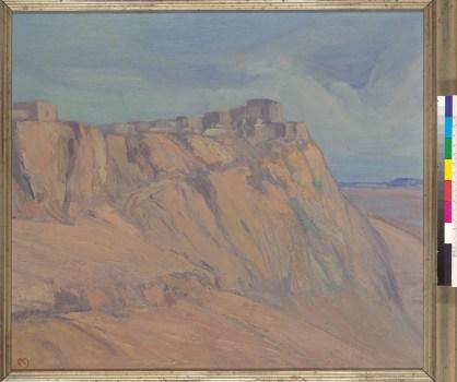 Martinez, Xavier. Walpi Pueblo landscape, Arizona. BANC PIC 1989.006--FR. Courtesy of The Bancroft Library, University of California, Berkeley Online