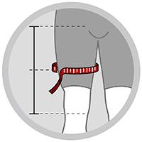 Justerbar lårbandage med 2 stropper