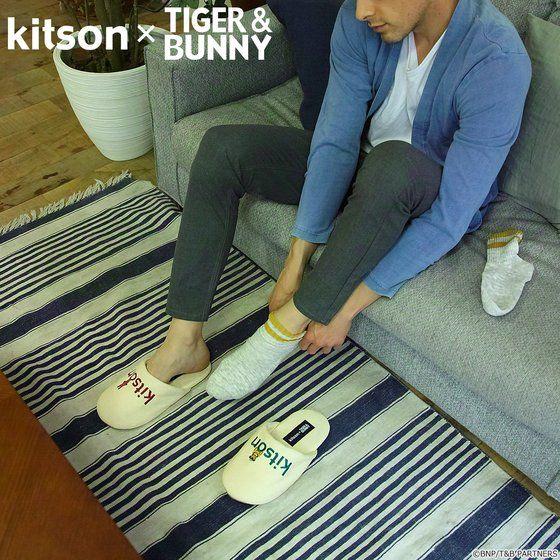 kitson × TIGER & BUNNY ルームシューズ&ポーチ ※オリジナルハンカチ付き アニメ・キャラクターグッズ新作情報・予約開始速報