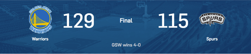 Score Box Game 4 Western Conference Final