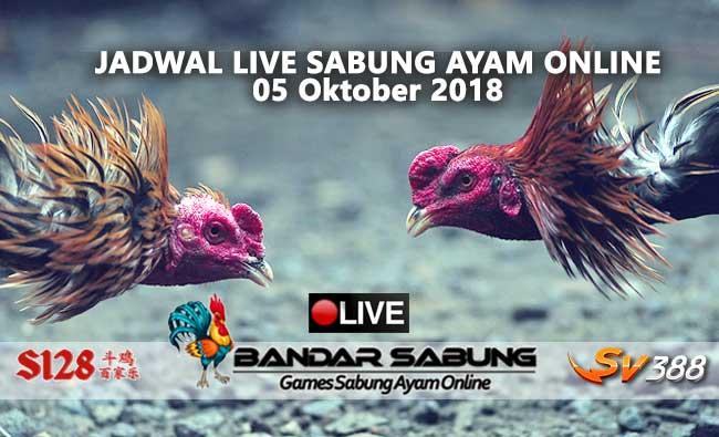 jadwal sabung ayam online s128 dan sv388 05 oktober 2018
