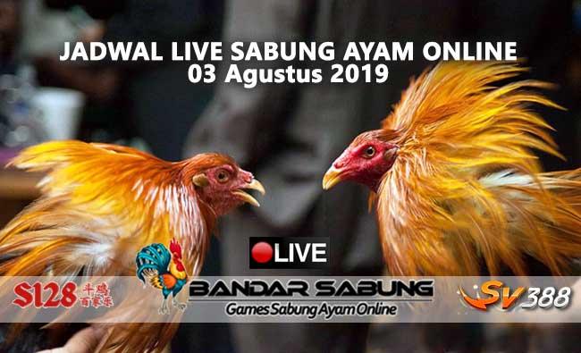 Jadwal Sabung Ayam Online S128 Dan SV388 03 Agustus 2019