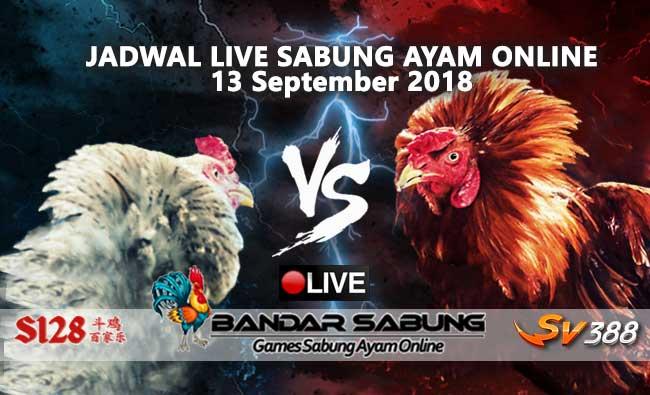 jadwal sabung ayam online s128 dan sv388 13 september 2018