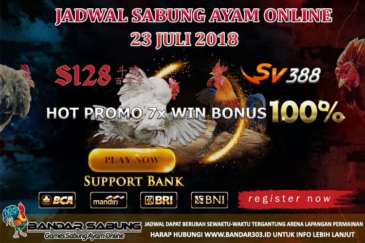 Jadwal Sabung Ayam Online 23 Juli 2018