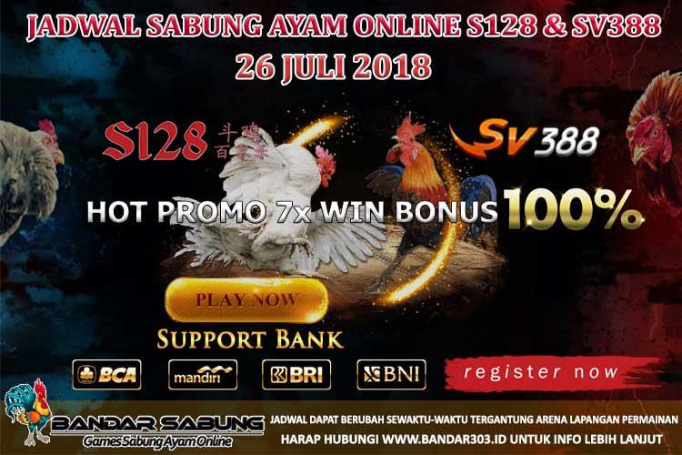 Jadwal Sabung Ayam Online S128 Dan SV388 26 Juli 2018
