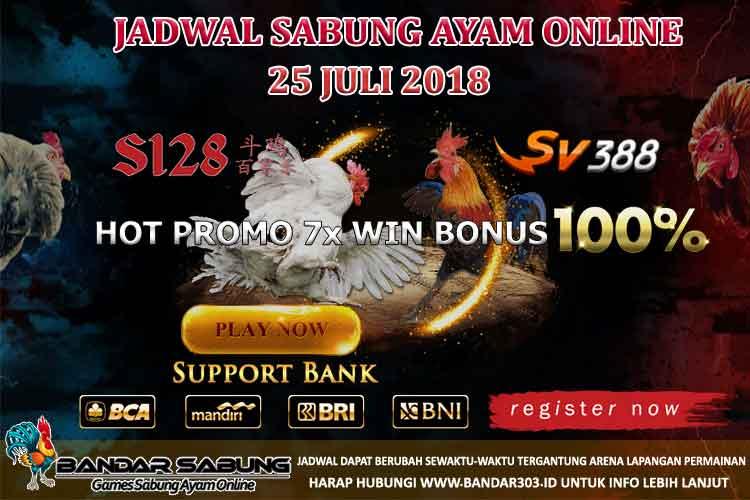 Jadwal Sabung Ayam Online 25 Juli 2018