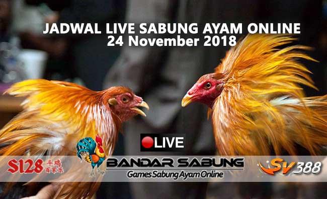 jadwal sabung ayam online s128 dan sv388 24 november 2018