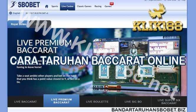 Cara Taruhan Sbobet Baccarat Online