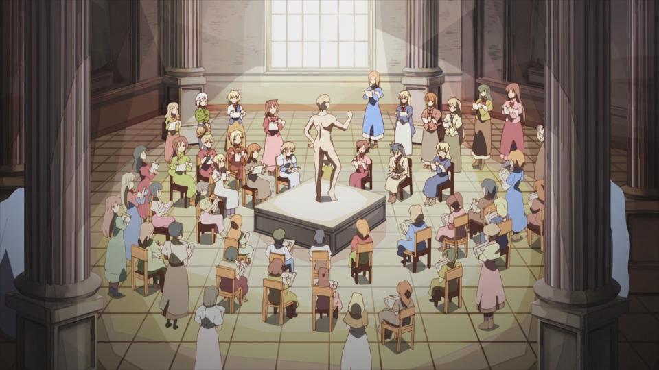 FIGURA 16. Workshop de desenho à vista na Mansão do Manga, parodiando uma academia renascentista.