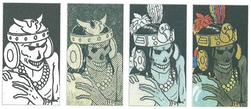 Hergé - As 7 bolas de cristal, a evolução de Rascar Capac