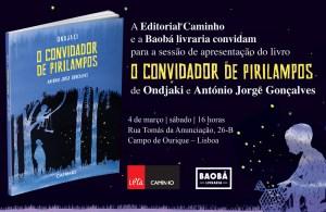 Lançamento de O Convidador de Pirilampos @ Baobá | Lisboa | Lisboa | Portugal