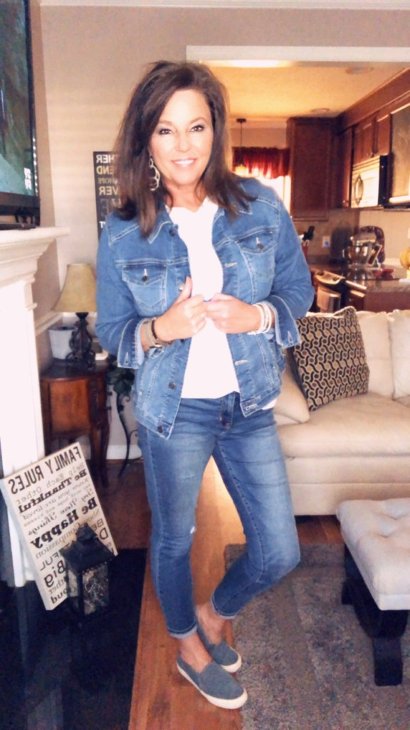 1fa20280119b I paired the denim jacket with a dress I got from Old Navy, it is on  clearance right now and I LOVE this dress. It's short sleeves and it has  plenty of ...