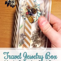 DIY Travel Jewelry Box from an Old iPod Packaging