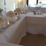 Décoration de la table des mariés pour leur mariage