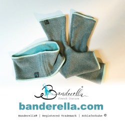 Schlafschuhe von Banderella reichen extra hoch am Bein herauf und wärmen so auch die Achillessehne.