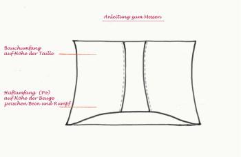 Bauchbinde - Shapewear von Banderella: Anleitung zum Messen