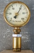 Completed PSI gauge