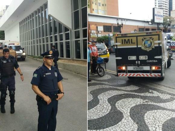 Assaltante foi morto em frente à agência, ao tentar fugir (Foto: Guarda Municipal/Divulgação)