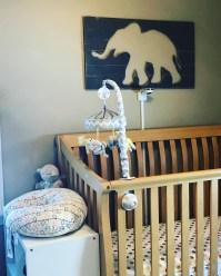 Elephant and giraffe themed nursery