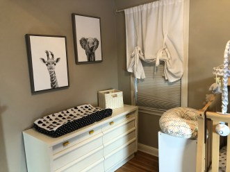 Upcycled dresser as a changing table