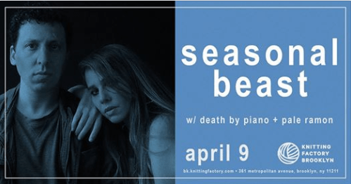 Seasonal Beast, Death By Piano , Pale Ramon, Bands do BK