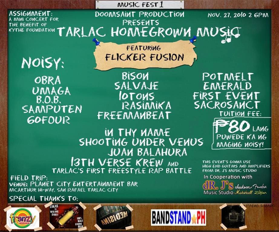 TARLAC HOMEGROWN MUSIC Fest by DOOMSAINT PRODUCTION