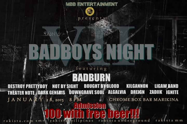 MBBe BAD BOYS NIGHT 7 Jan.28 Chrome Box Bar