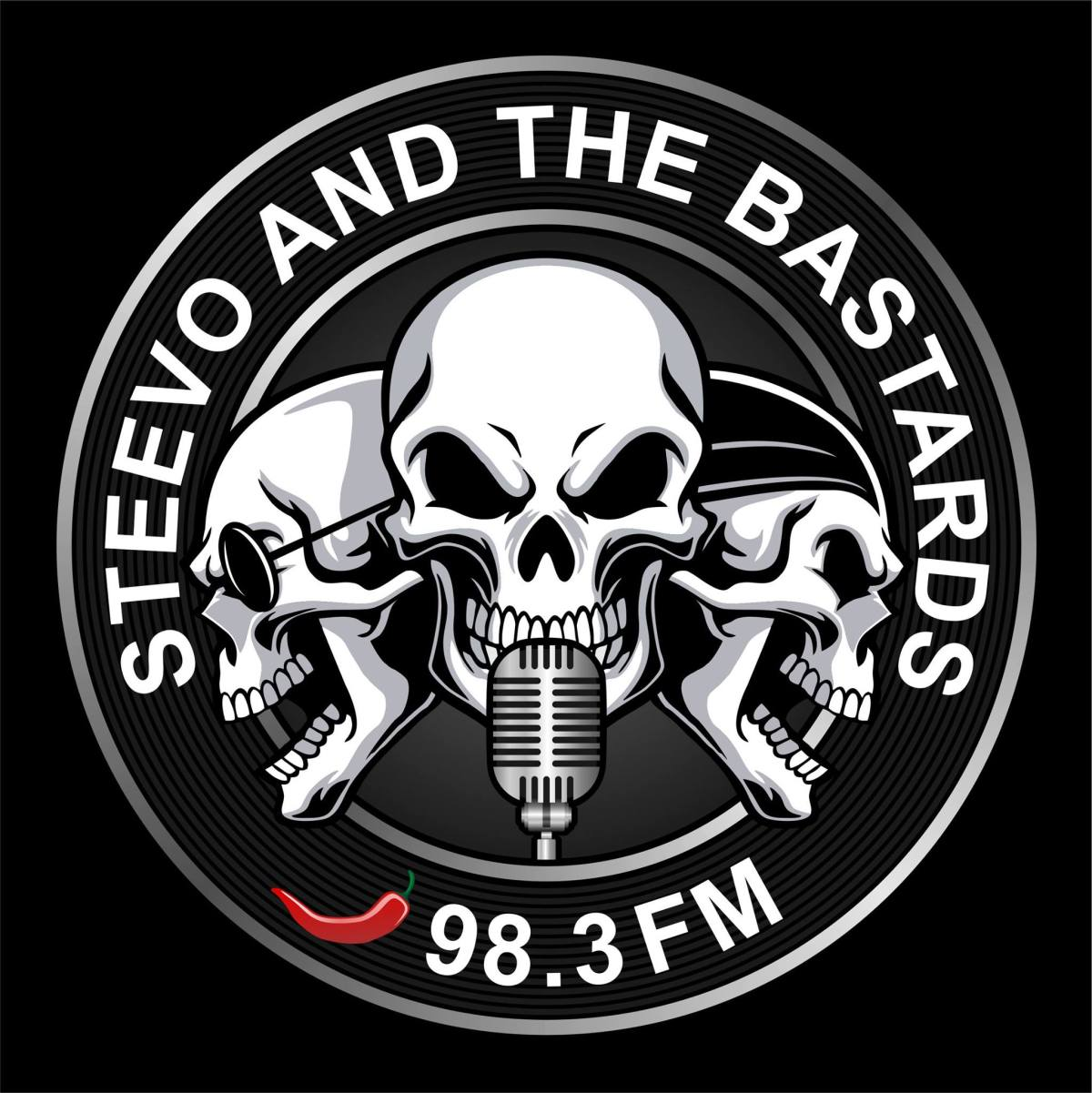 Steevo And The Bastards on 98.3 FM WROGN Radio!