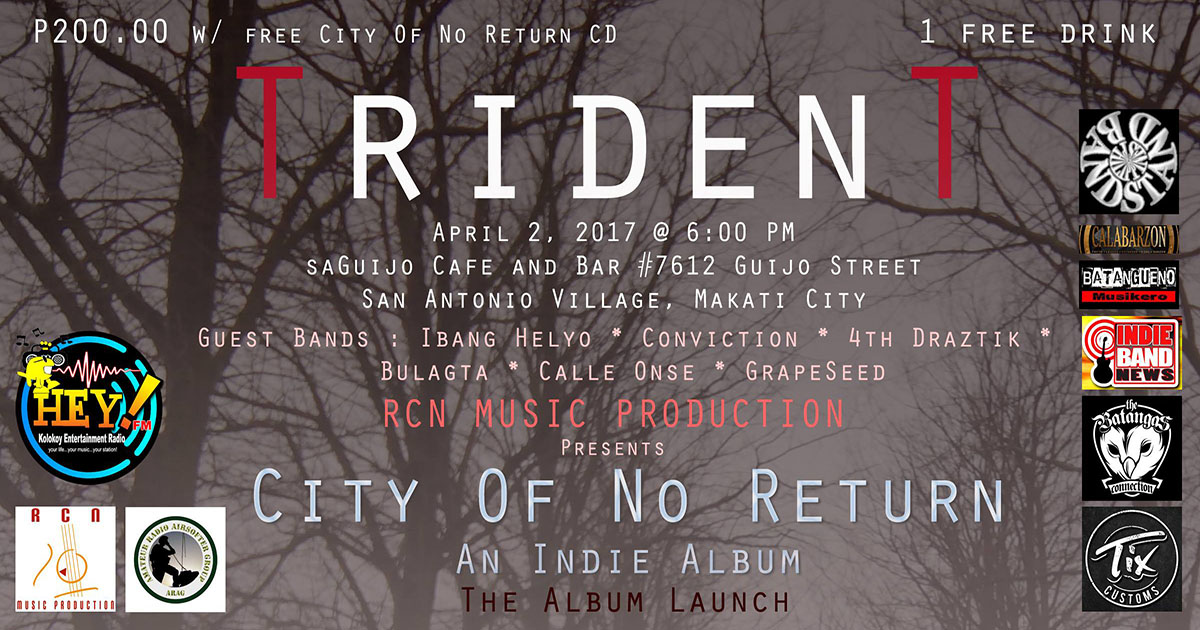 "RCN Music: TRIDENT ""City of No Return"" Album Launch"