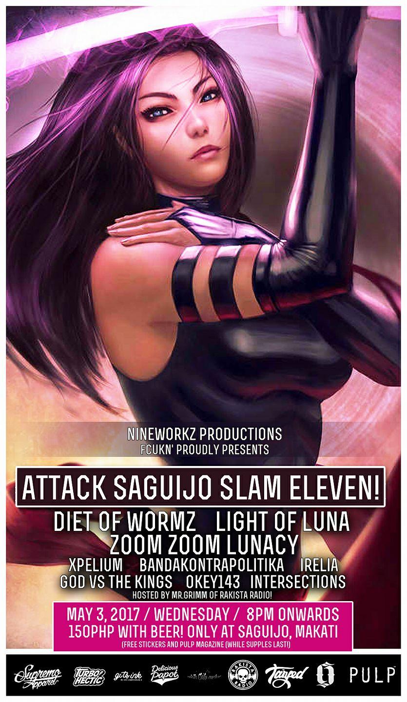 ATTACK SAGUIJO SLAM ELEVEN!