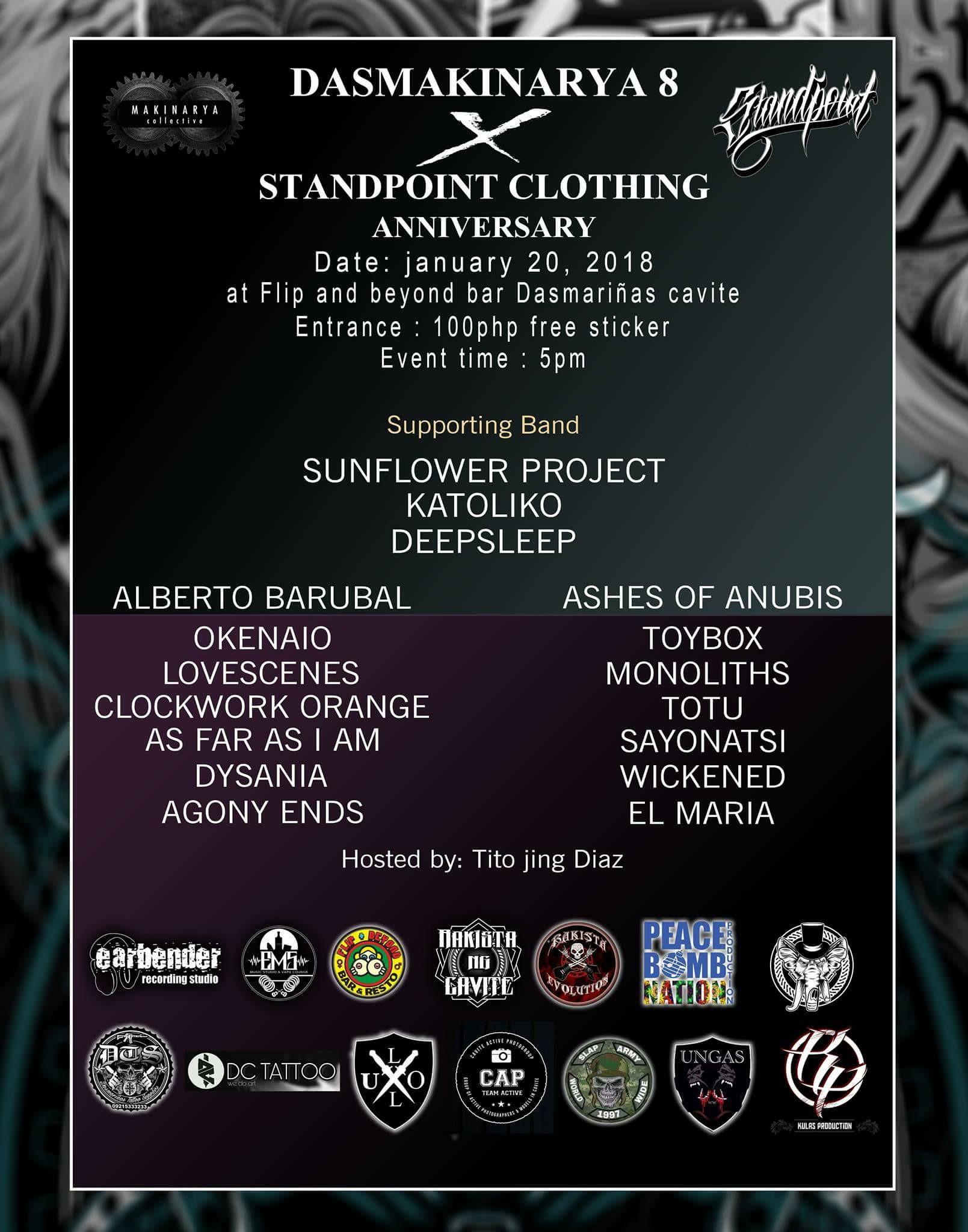 Dasmakinarya 8 × Standpoint Clothing Anniversary